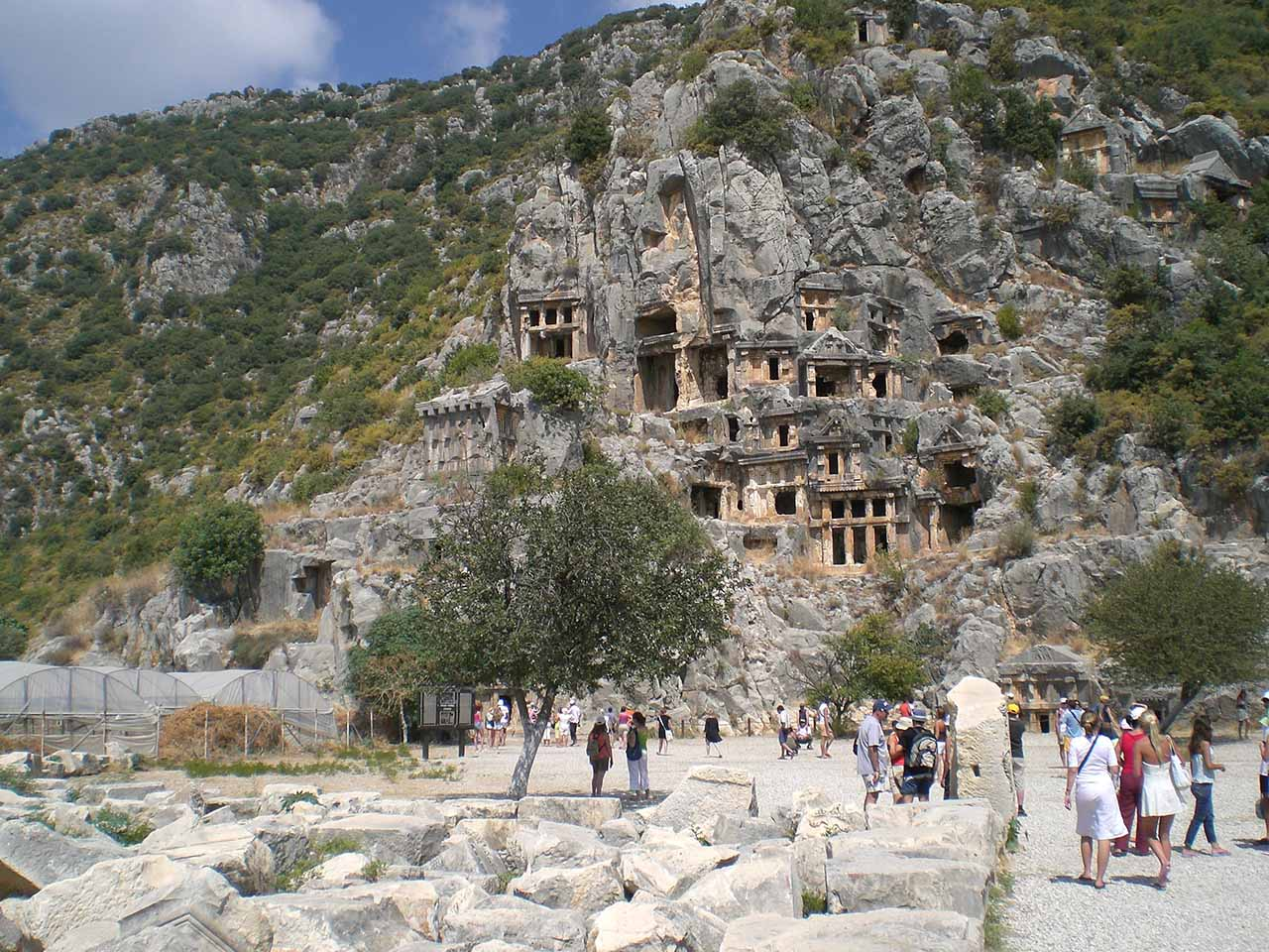Rock tombs Myra