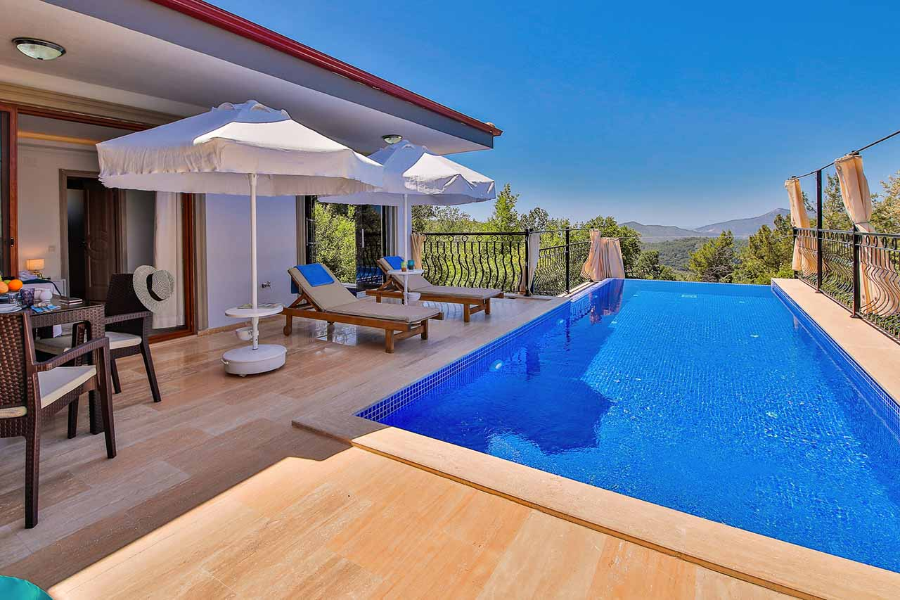 out door pool and terrace