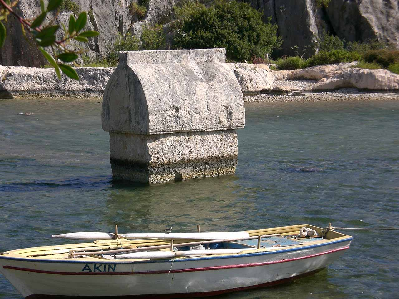 sarcophogus and boat Kekova